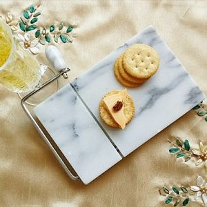 Other - Marble Stone Mini Cheese Board & Slicer